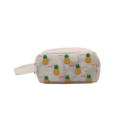 Fruit Printing Cute Big Makeup Bag - WHITE 35