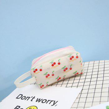 Fruit Printing Cute Big Makeup Bag - WHITE
