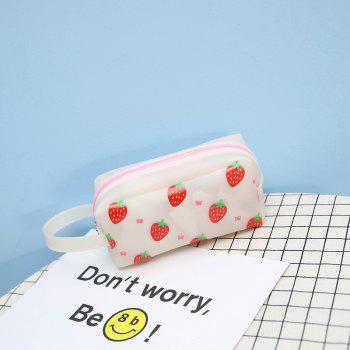Fruit impression mignon grand sac de maquillage - Blanc