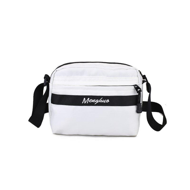 Waterproof Multi-function Single Shoulder Bag Slant Cross Bag - WHITE