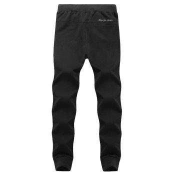 K007 Men's Casual Pants Slim Feet Feet Elastic Pants Trend - BLACK BLACK