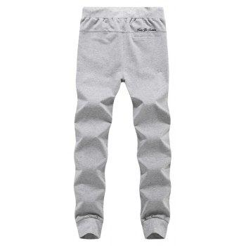 K007 Men's Casual Pants Slim Feet Feet Elastic Pants Trend - GRAY GRAY