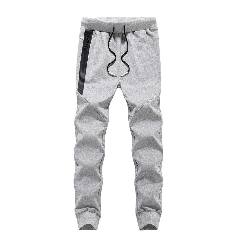 K007 Men's Casual Pants Slim Feet Feet Elastic Pants Trend - GRAY M