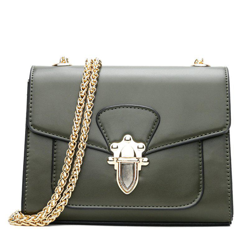 New Wild Chain Bag Mini Shoulder Buckle Retro Rivets Messenger Bag Ladies Small Bag - IVY