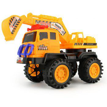 Fine Interesting Excavator Toys for Children - YELLOW YELLOW
