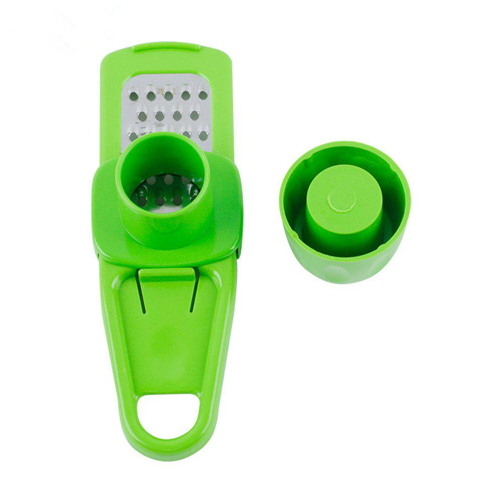 1PC Candy Color Garlic Press Multi-Functional Grinding Garlic Mini Ginger Grinding Grater Planer Slicer Cutter - IVY