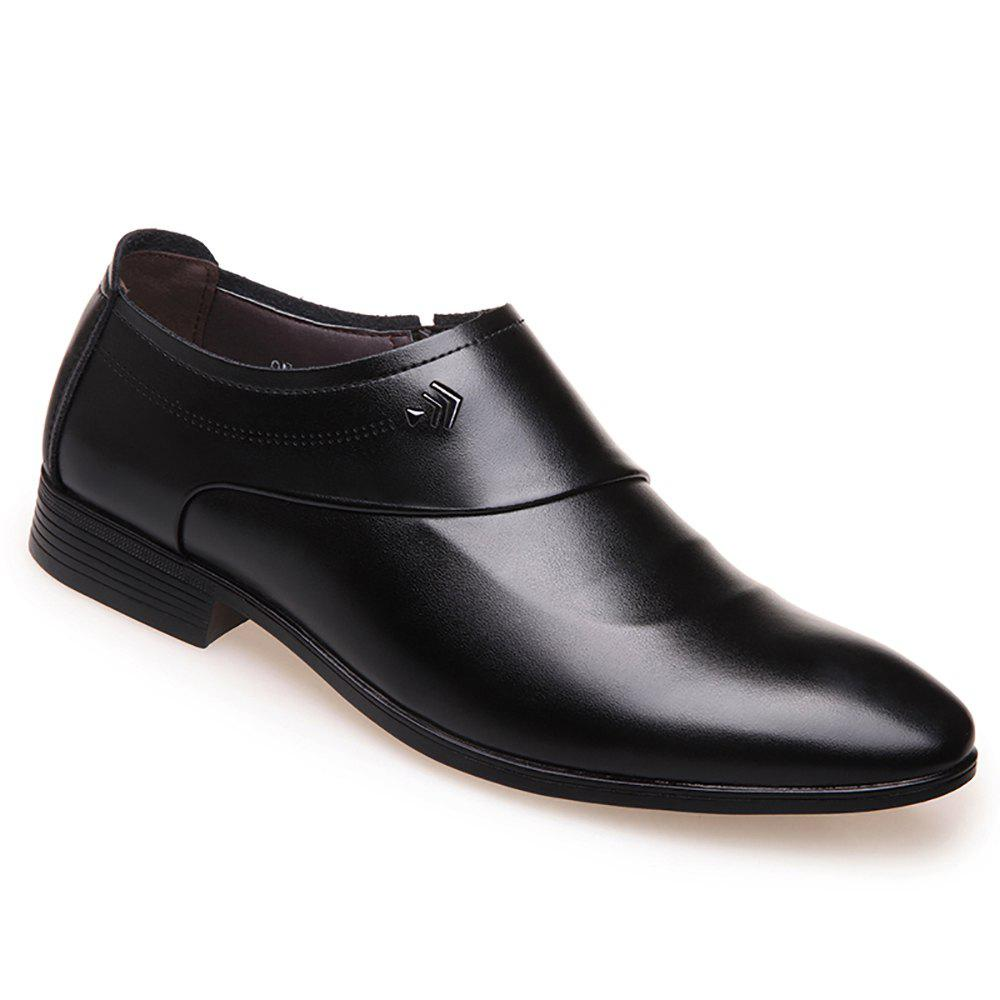 Business Casual Men Single Shoes - BLACK 43