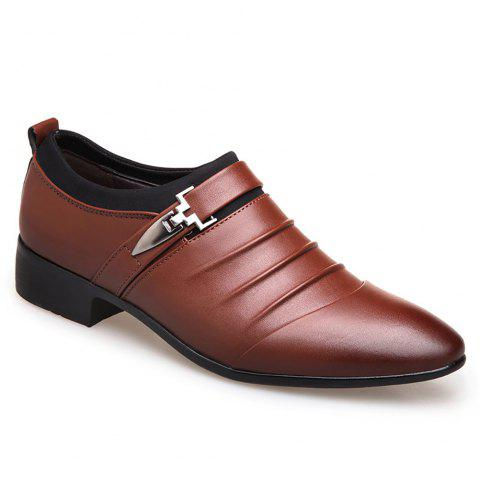 Casual  Men Business Shoes - BROWN 42