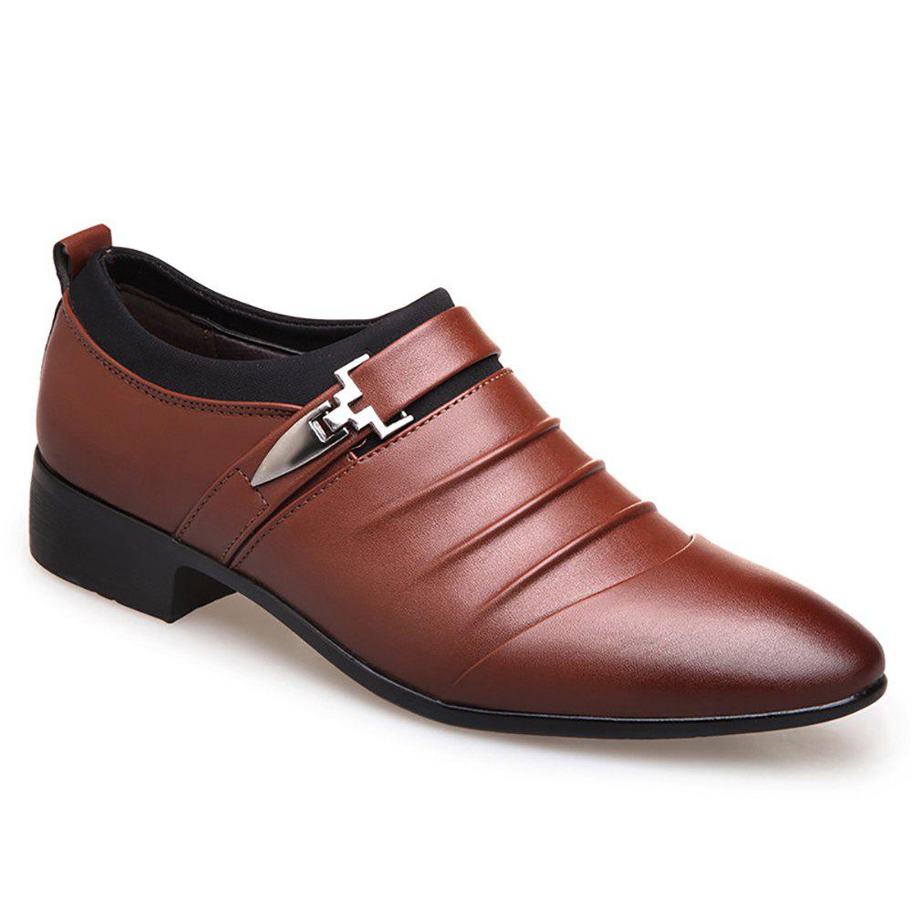 Casual  Men Business Shoes - BROWN 38