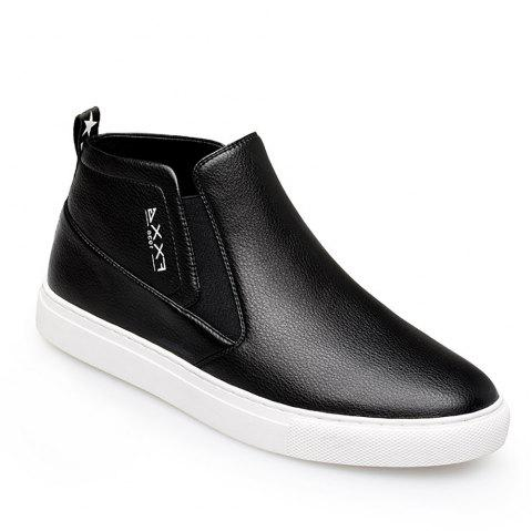 Fashionable Casual Leather Shoes - WHITE 42