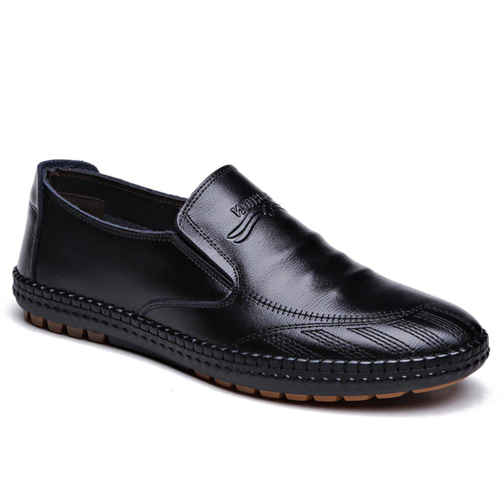 Sewing Business and Leisure Shoes - BLACK 42