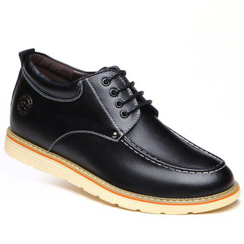 Increase Height Leisure Shoes - BLACK 38