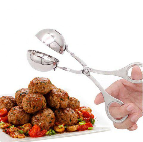Stainless Steel Meatball Maker Stuffed Meatball Clip DIY Fish Meat Rice Ball Maker - SILVER
