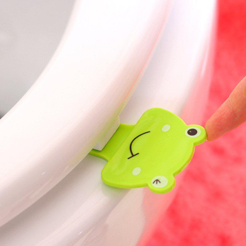 Creative 3PCS Cute Little Frog Toilet Lift - GREEN
