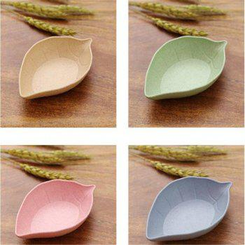 Creative 4PCS Leaf Color Seasoning of Small Dish - COLORMIX