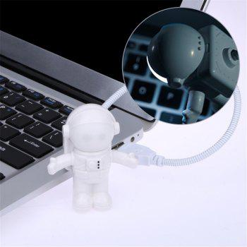 Utorch USB Tube for Computer Laptop PC Notebook Pure White Portable Spaceman Astronaut LED Night Light - COLD WHITE