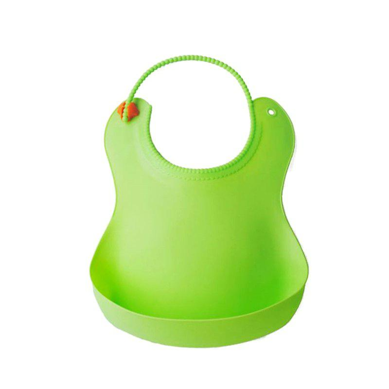 TPE Waterproof Leak Proof Baby Bib - GREEN