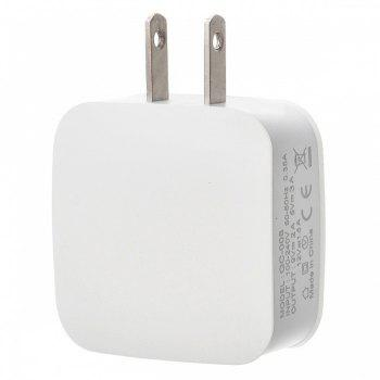 5V/3A QC 3.0 Quick Charge US Plug USB AC Charger / USB Wall Charger - WHITE