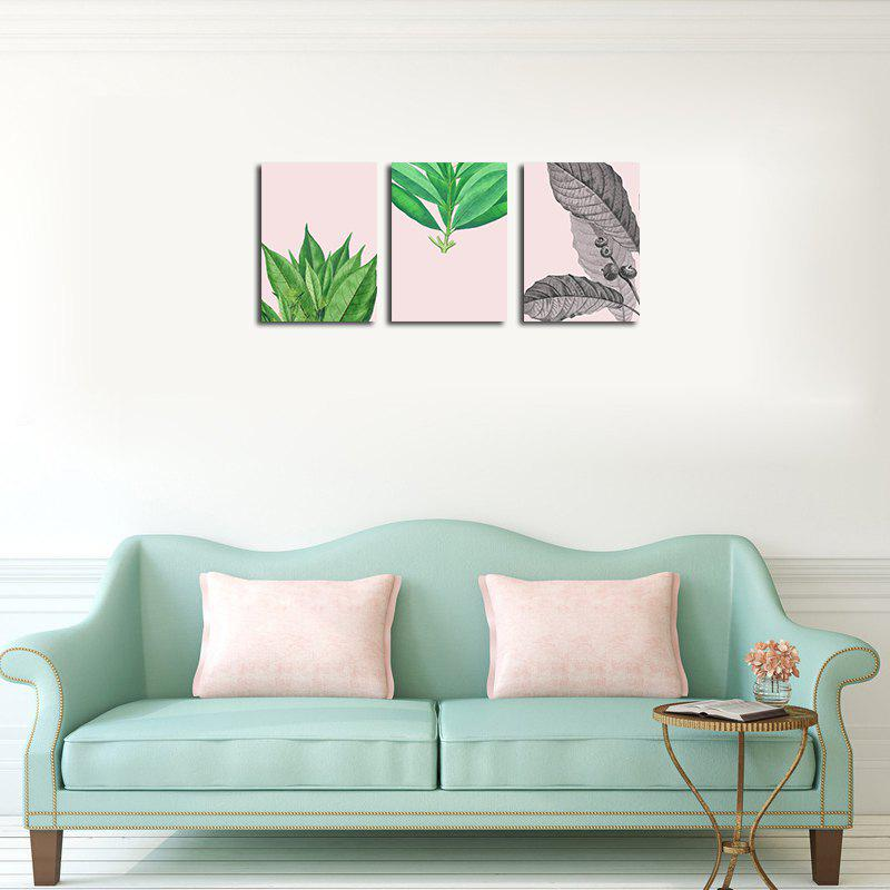 QiaoJiaHuaYuan No Frame Canvas of the Nordic Living Room Sofa Background Small and Fresh Leaves Decorated Hanging Painti - COLORMIX