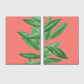 QiaoJiaHuaYuan  No Frame Canvas of the Nordic Living Room Sofa Background Two Sets of Painting Plants Clear New Wind Lea - COLORMIX COLORMIX