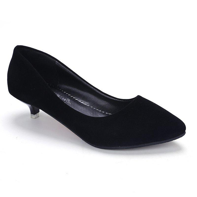 Pointy Head Grind Arenaceous Small Shoes - Black - 37