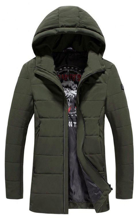 2018 Men's Warm Fashion Clothes - GREEN L
