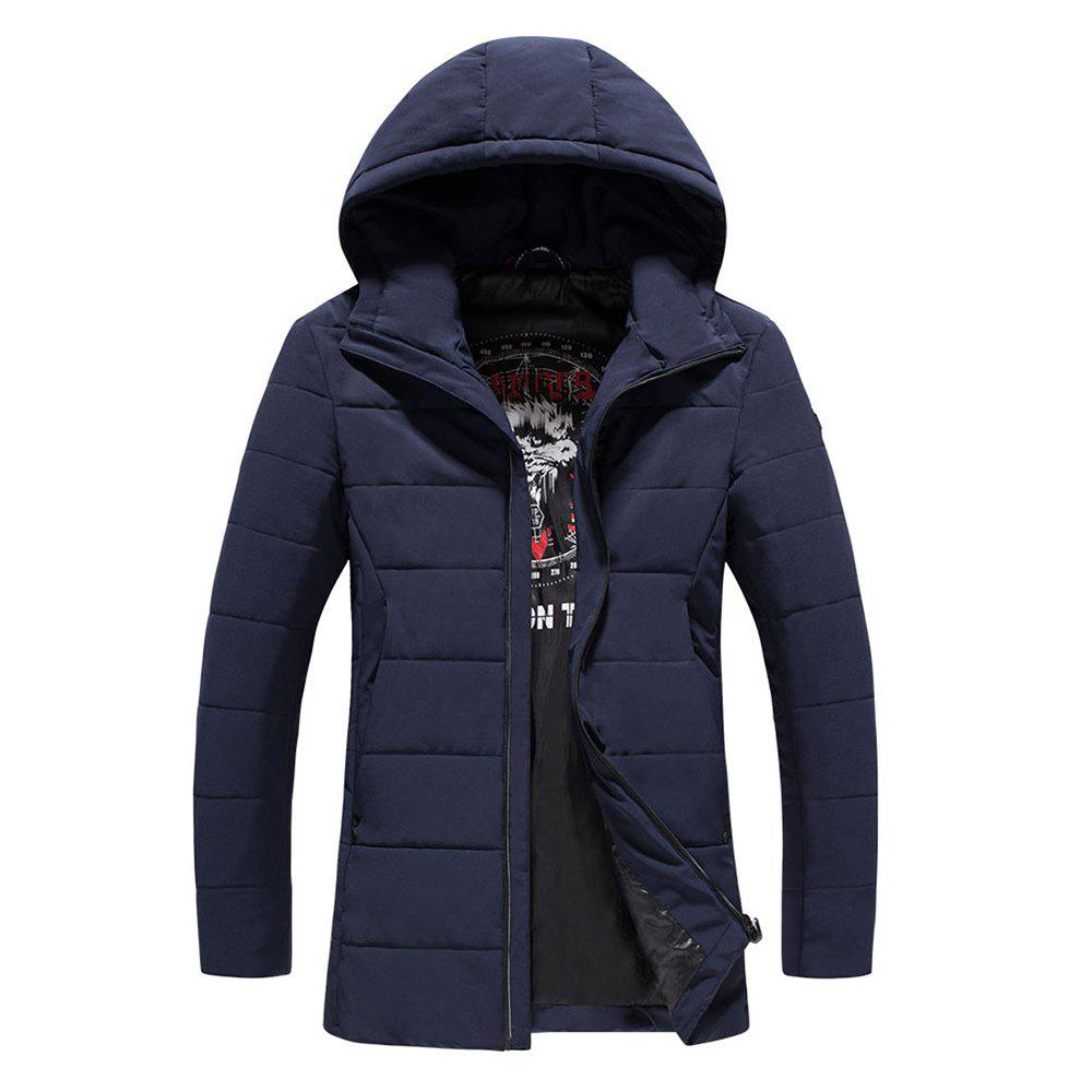 2018 Men's Warm Fashion Clothes - DEEP BLUE M