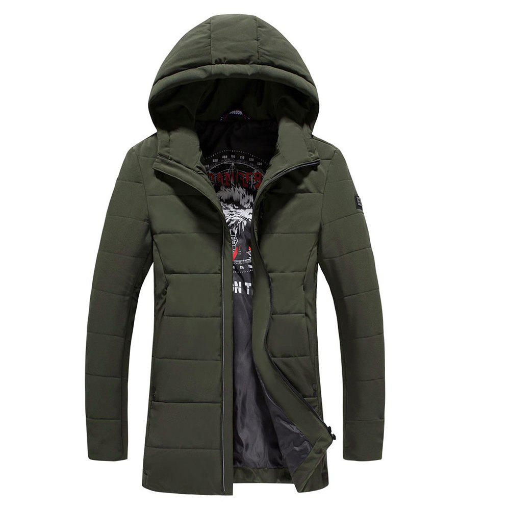2018 Men's Warm Fashion Clothes - GREEN M