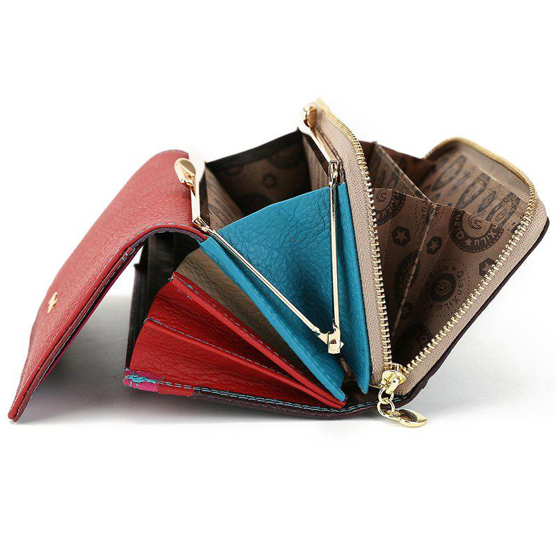 Fashion Brand Leather Women Phone Wallets High Quality Zipper Hasp Coin Purse Female Long Card Holder Lady Casual Wallet - RED