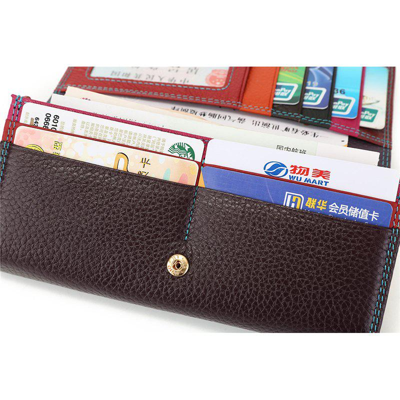Fashion Brand Leather Women Phone Wallets High Quality Zipper Hasp Coin Purse Female Long Card Holder Lady Casual Wallet - BLACK