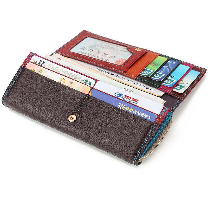 Fashion Brand Leather Women Phone Wallets High Quality Zipper Hasp Coin Purse Female Long Card Holder Lady Casual Wallet - PURPLE