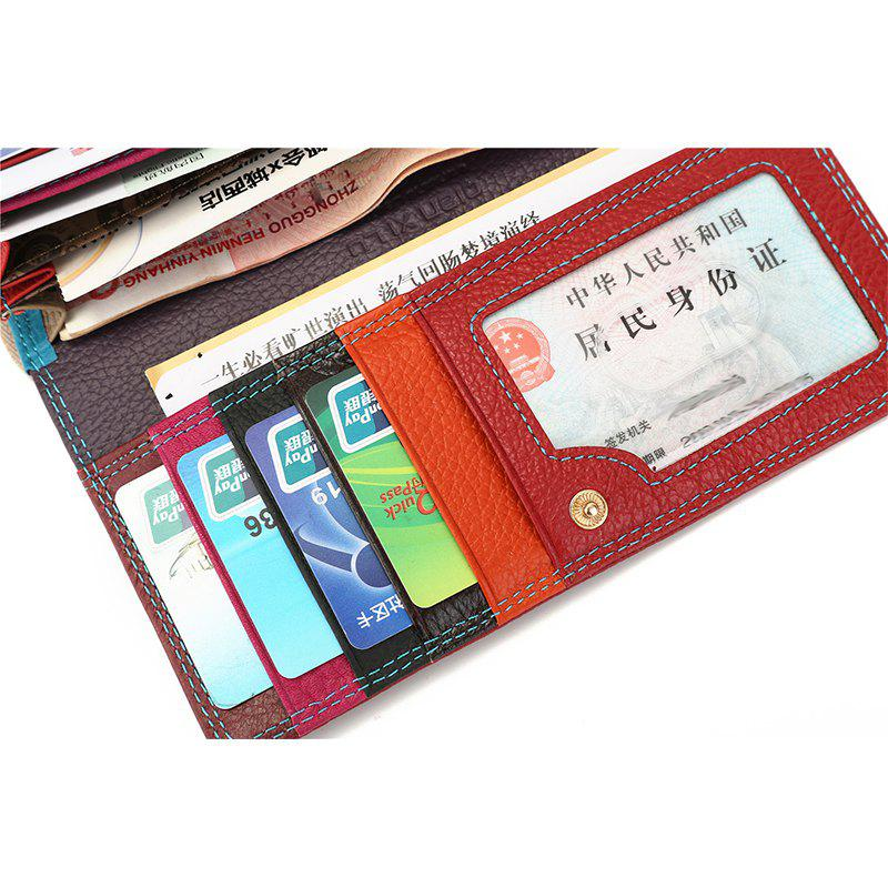 Fashion Brand Leather Women Phone Wallets High Quality Zipper Hasp Coin Purse Female Long Card Holder Lady Casual Wallet - KHAKI