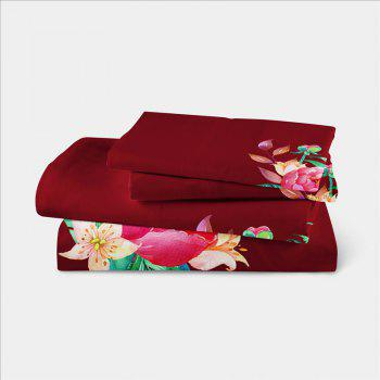 Embroidered and Painted Series Pattern Leaf Design Fresh  Comfortable High Grade Bedding - COPPER TWIN