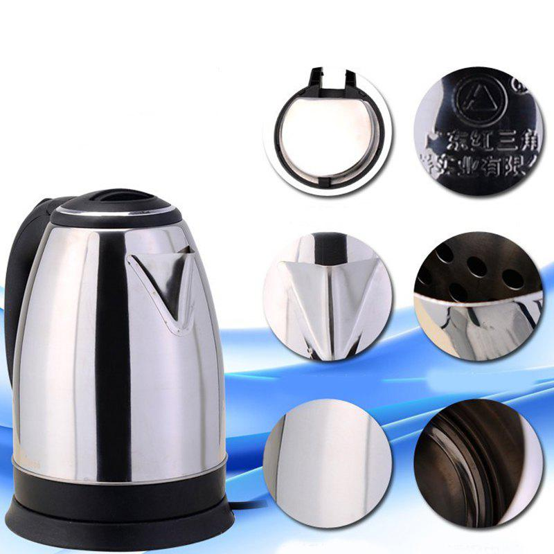 Stainless Steel Electric Kettle Quick Hot Water Kettle Small Gift Household Appliances - BLACK