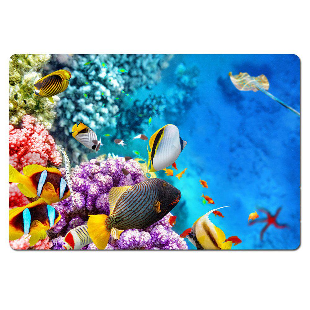 Welcome Doormat 3 D Only Beautiful Underwater World Entrance Floor Funny Indoor Outdoor Doormat - BLUE