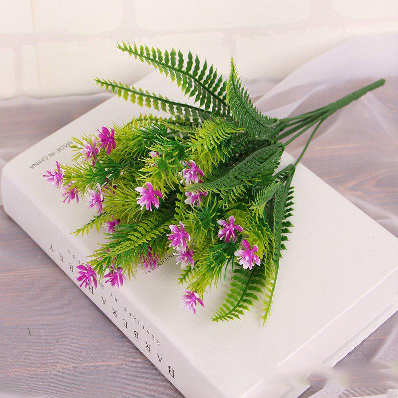 4 Pcs Green Grass Plants Artificial Flower Babysbreath Simulation Flower Wedding Decoration for Home Party Office - SANGRIA