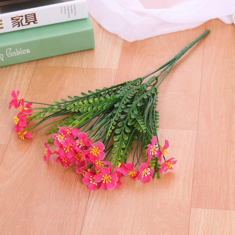 4 PCS Artificial Green Plants Grass Fake Floral Plastic Flowers For Office Hotel Home Wedding Table Decoration - SANGRIA