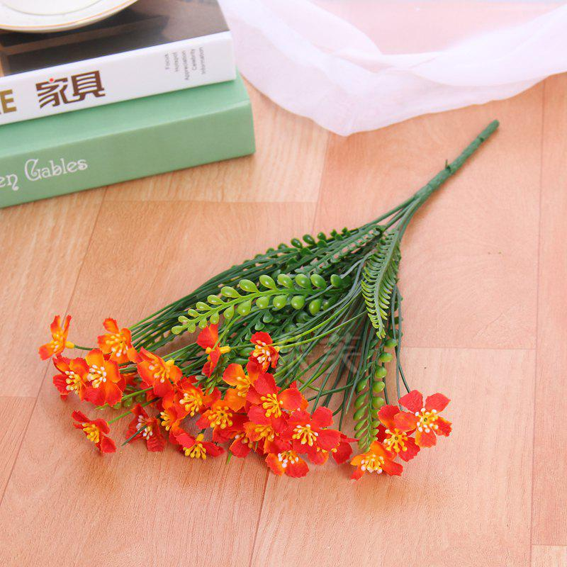 4 PCS Artificial Green Plants Grass Fake Floral Plastic Flowers For Office Hotel Home Wedding Table Decoration - JACINTH