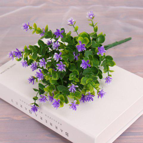 4 PCS Artificial Green Plants Grass Fake Floral Plastic Flowers For Office Home Wedding Table Decoration - PURPLE
