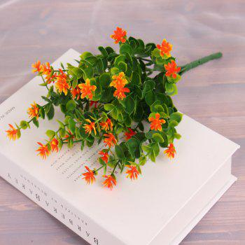 4 PCS Artificial Green Plants Grass Fake Floral Plastic Flowers For Office Home Wedding Table Decoration - JACINTH JACINTH