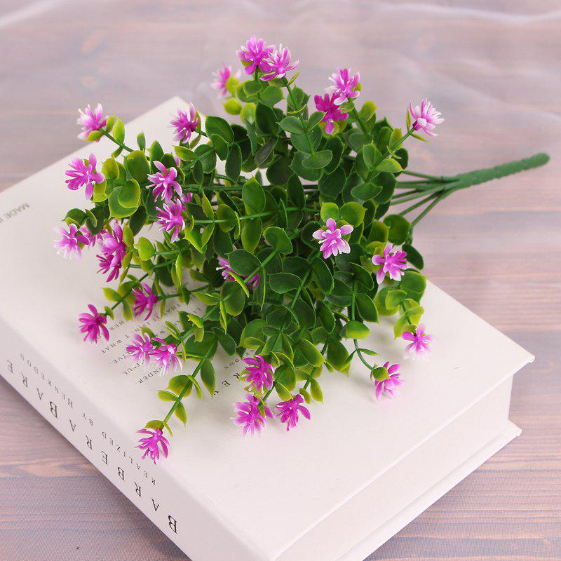 4 PCS Artificial Green Plants Grass Fake Floral Plastic Flowers For Office Home Wedding Table Decoration - SANGRIA