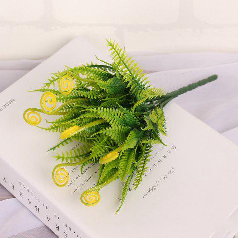 4 PCS Green Grass Plants Artificial Flower Simulation Flower Wedding Decoration - YELLOW