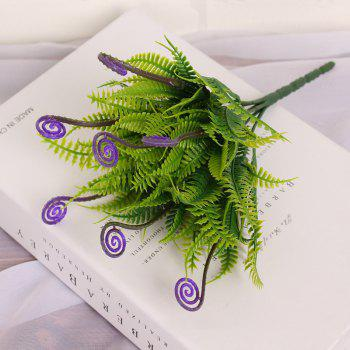 4 PCS Green Grass Plants Artificial Flower Simulation Flower Wedding Decoration - PURPLE PURPLE