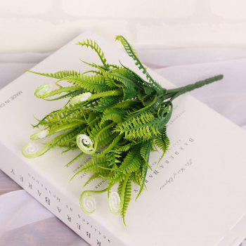 4 PCS Green Grass Plants Artificial Flower Simulation Flower Wedding Decoration - WHITE WHITE