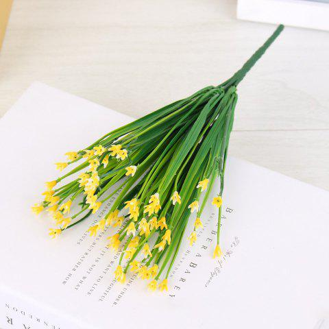 4 PCS Artificial Flower Coffee House Office Home Wedding Decoration Plastic Cloth Flowers Cheap - YELLOW