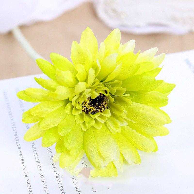 8 PCS Artificial Gerbera Daisy Heads Silk Flower Home Wedding Decor Bouquet Party Home Decoration - GREEN