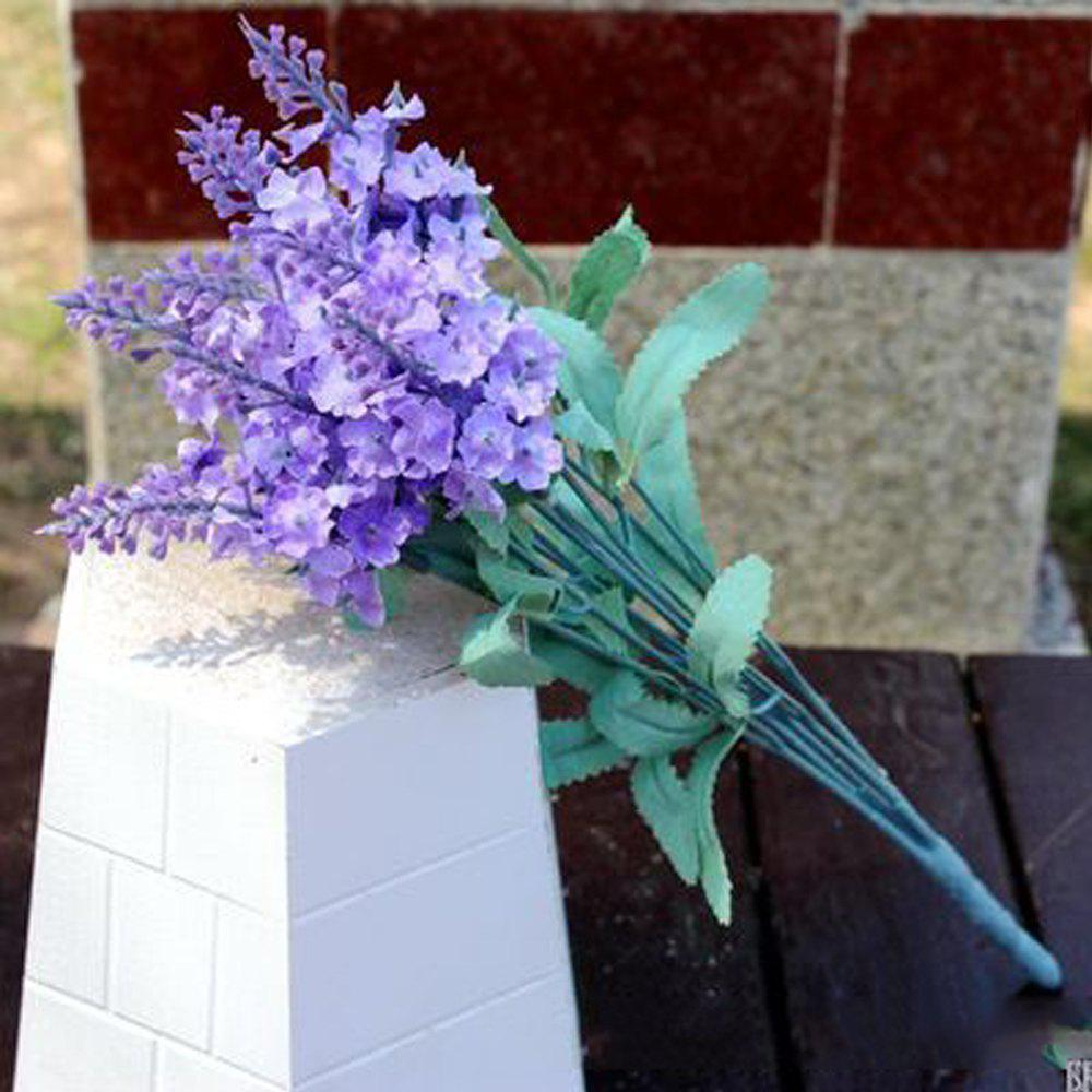 5 Pcs Artificial Lavender Flower Bouquet Multicolor Flowers for Wedding Wreath Decoration - RADIANT