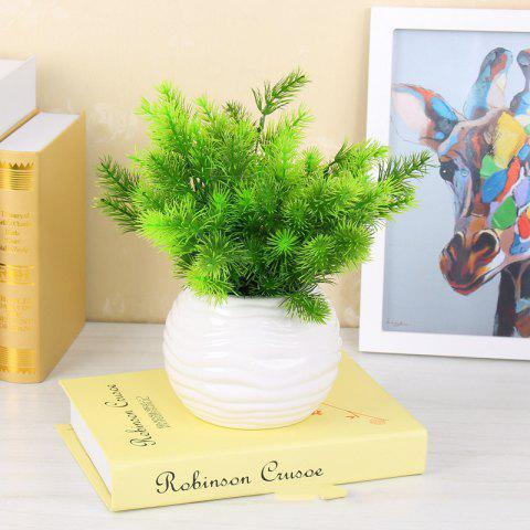 4 Pcs Artificial Plant Pine Needles Xmas Tree Decoration Diy Mixed Branchs Christmas Ornament Supplies - LIGHT GREEN