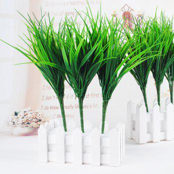 6 Pcs Green Plant Leaves Grass Decorative Flowers Artificial Flowers For Home Decoration Artificial Grass - GREEN GREEN