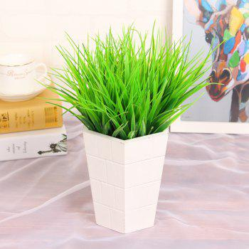 6 Pcs Green Plant Leaves Grass Decorative Flowers Artificial Flowers For Home Decoration Artificial Grass - GREEN